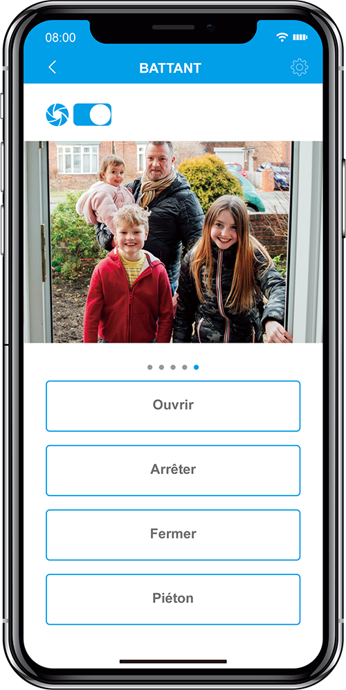 capture ecran de l'application eyeopen