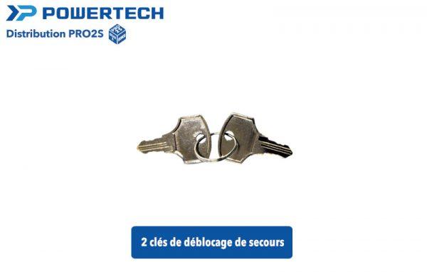 clés de déblocage de secours pour moteur powertech