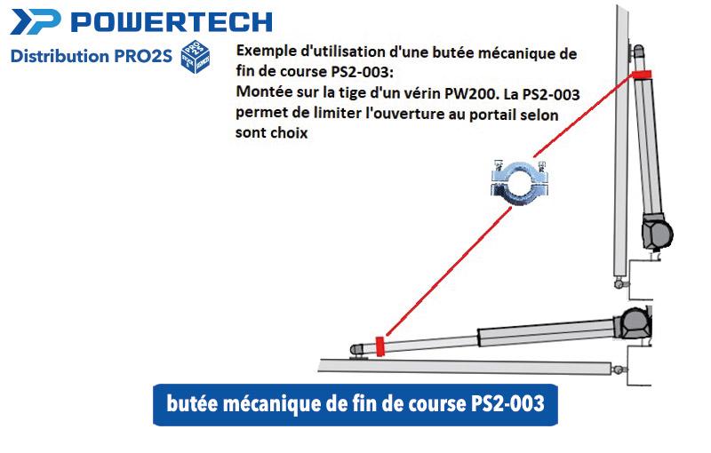 schéma butée mécanique de fin de course PS2-003